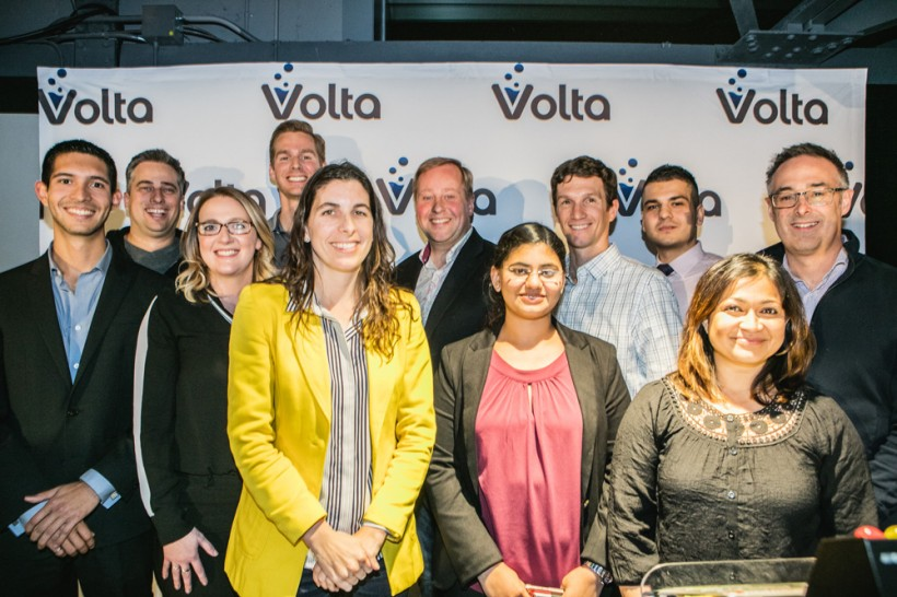The judges and winners of the first Volta Cohort in November.
