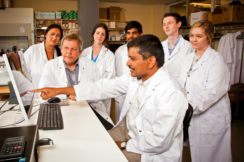 The staff at Halifax-based drug development company AGADA.