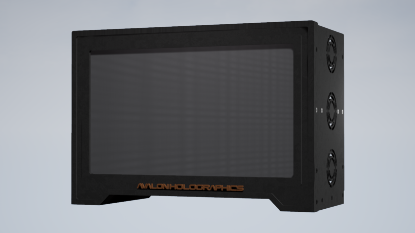 Avalon Holographics' 29-inch prototype display.