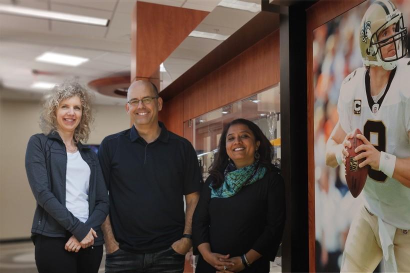 The Avrij leaders: Carmen McKell, left, Garfield Fisher and Shambhavi Pundir.