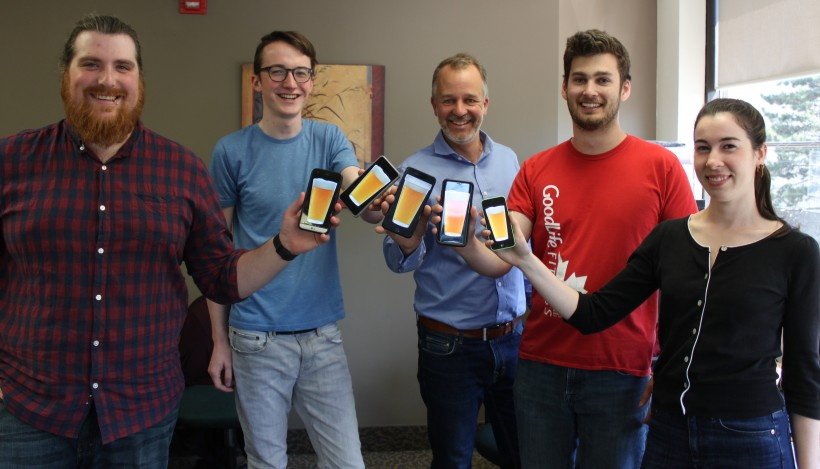 From left to right: Grady Williams, Isaac Lohnes, John Leahy, Alex Irving and Collinda Fahey