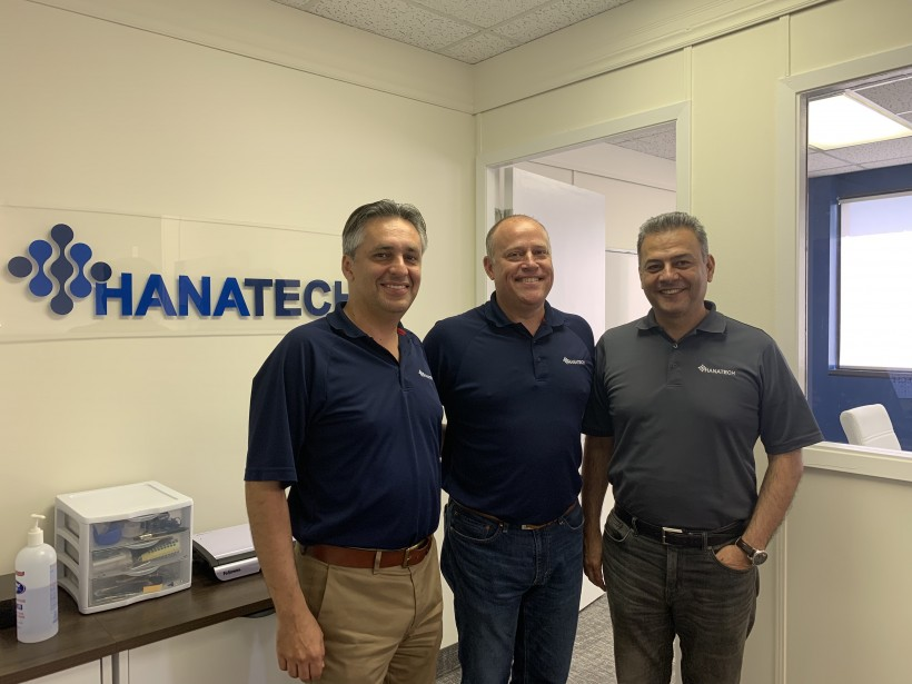 Hanatech IoT Co-Founders CEO Ali Nafarieh, left, CFO Chuck Lienaux, and CTO Ali Hamidi.