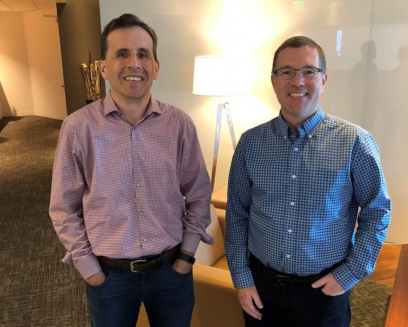 Sonrai CEO Brendan Hannigan, left, and CTO Sandy Bird