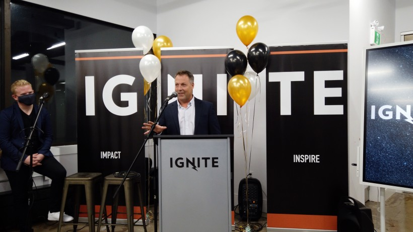 Ignite Labs CEO Doug Jones at the opening of the new facility in Pictou County.
