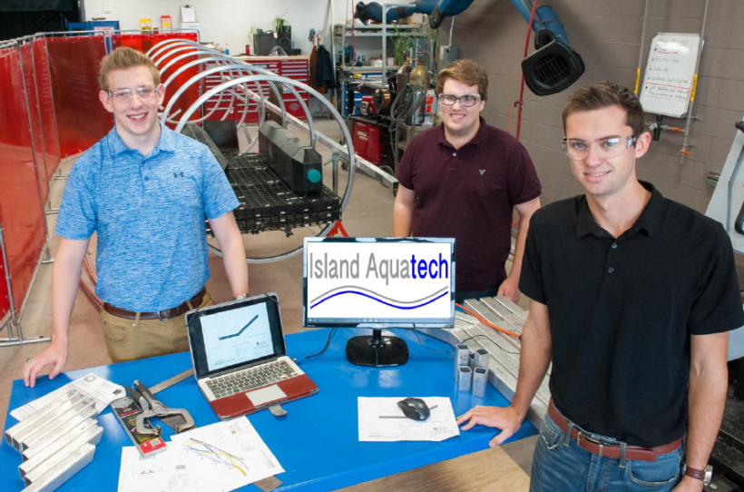 Island AquaTech Co-Founders Dylan MacIssac, left, Brett McDermott, and Jordan Sampson.