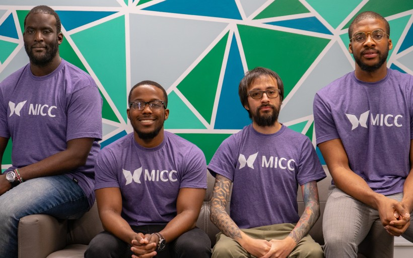 The MICC Team: James Muhato, left, Jonah Chininga, Sergio Fernandez and Daniel Ohaegbu