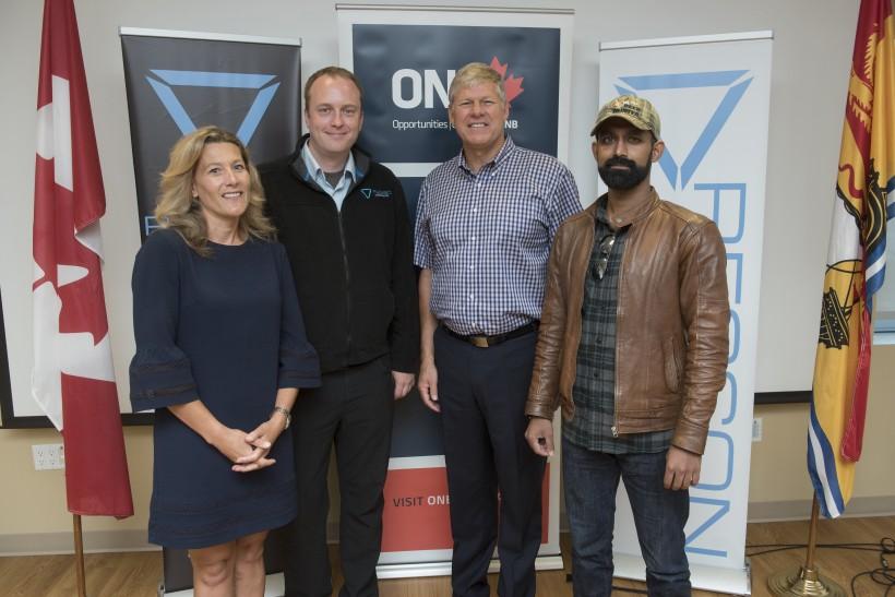 Aiding Resson: ONB's Traci Simmons, Peter Goggin, Deputy Premier Stephen Horsman, and Rishin Behl