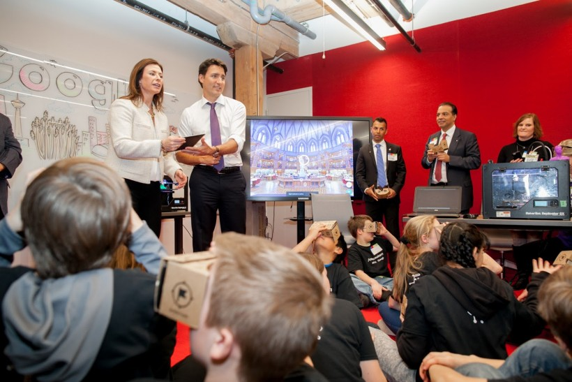 Prime Minister Justin Trudeau is right at home in a classroom.