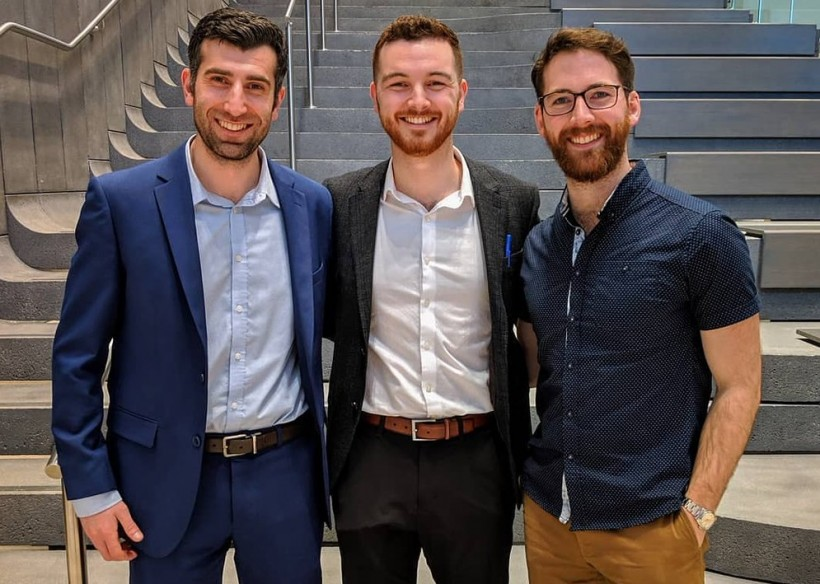 The PolyUnity Co-Founders: Michael Bartellas, left, Travis Pickett and Stephen Ryan.