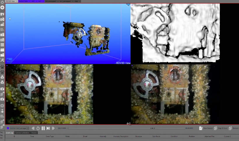 The ROV3D software in action.