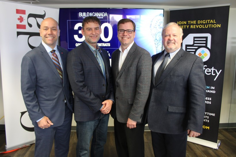 CEO Stephen Sayle (second left) aims to start a