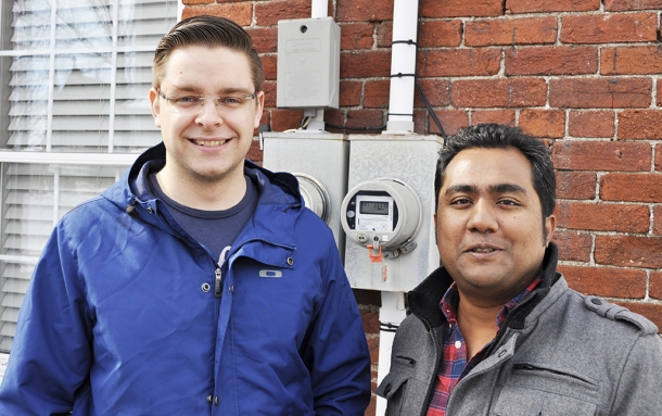 Keelin Gagnon, left, and Asif Hasan: Looking forward to a roll out across North America.