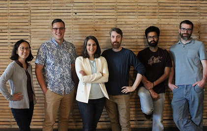 The SomaDetect team with Founders Bethany Deshpande and Nicholas Clermont in the centre.