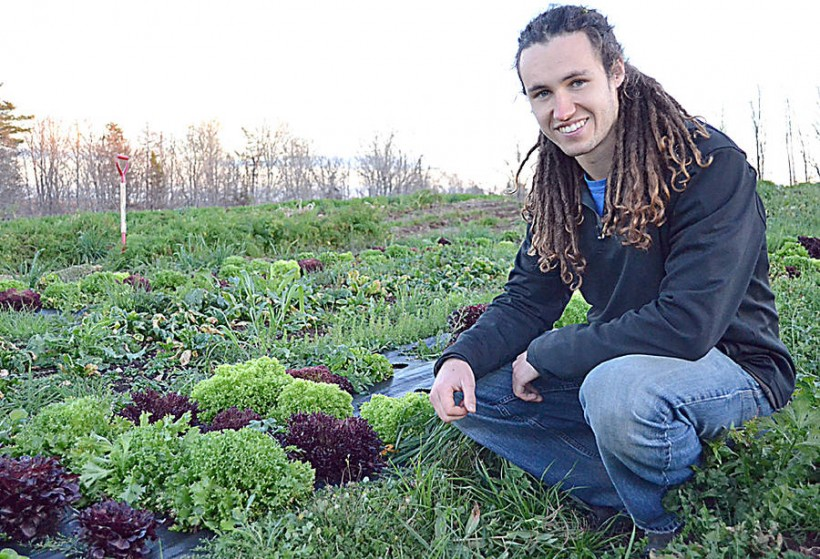 """""""Picking weeds sucks,"""" says Teric Greenan, who is building a robot that can identify and pick weeds (Gayle Wilson/LighthouseNOW)"""