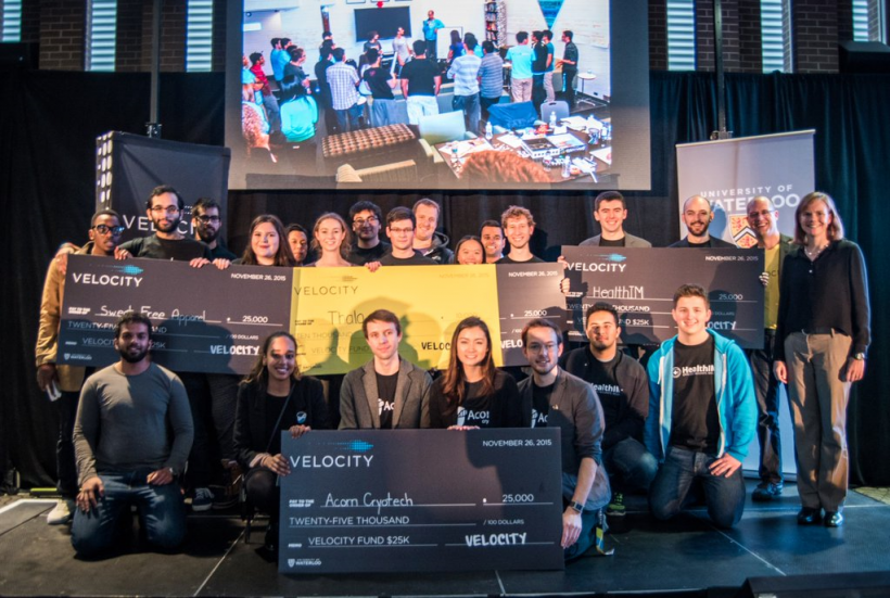 The winners, judges and organizers. (Photo from Velocity)