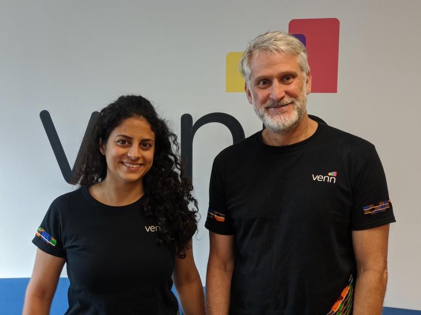 Venn's Program Manager Alicia Grayeb and Entrepreneur in Residence Norbert Demps