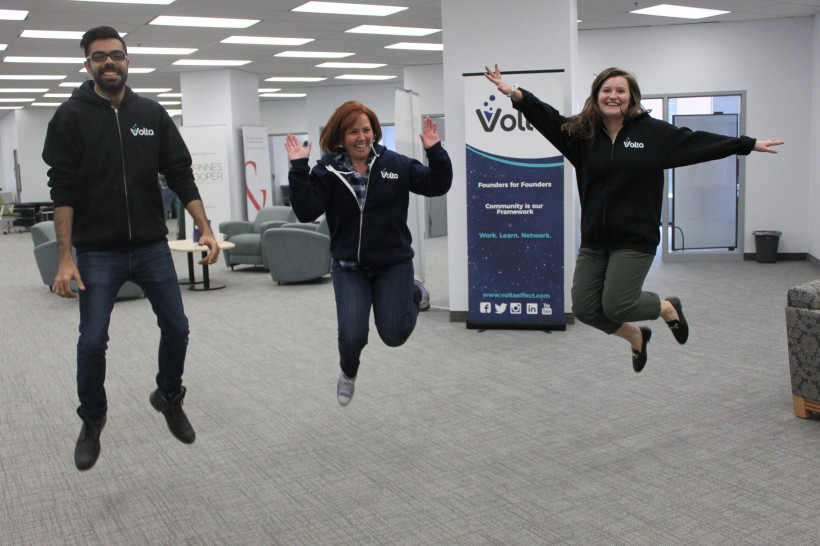 The Volta staff is jumping for joy over the new space.
