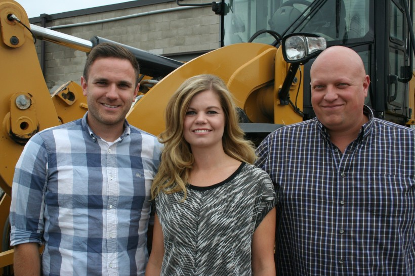 The Dozr team: Tim Forestell, left, Erin Stephenson and Kevin Forestell.