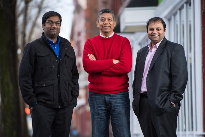 Trispectra CEO Emmanuel Albert, left, Ed Rodriguez and Dhirendra Shukla.