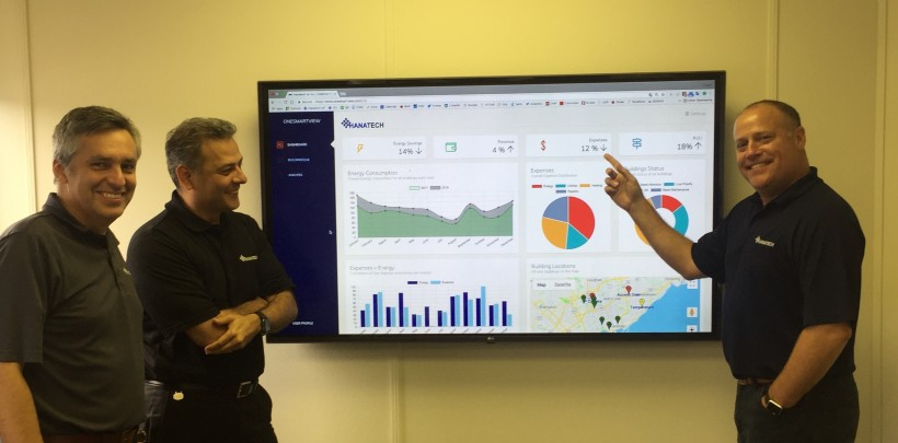 Ali Nafarieh, Ali Hamidi and Chuck Lienaux admiring the One Smart View dashboard