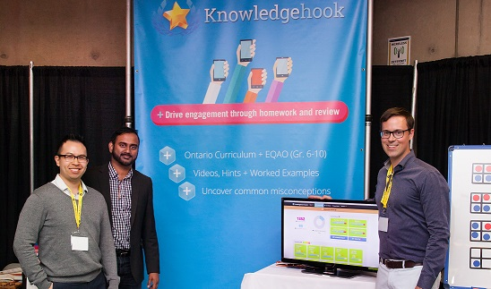 Knowledgehook co-founders Arthur Lui, left, Travis Ratnam and James Francis.