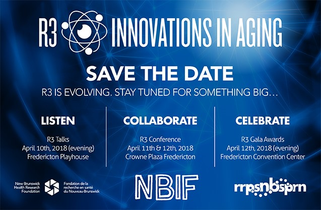 NBIF will award $50,000 to three New Brunswick researchers at this year's R3 Gala.