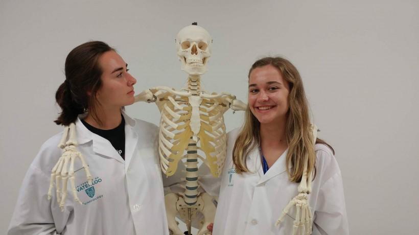 Madeline Hamill, right, and Chloe Ryan at the Waterloo cohort last summer.